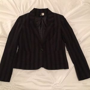 Black on Black Stripe blazer